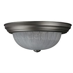 "Sunlite 13"" Decorative Dome Ceiling Fixture, Brushed Nickel Finish, Alabaster Glass, DBN13/AL"