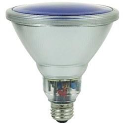 Sunlite 23 Watt Colored PAR38 Reflector, Medium Base, Blue, SL23PAR38/B
