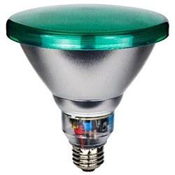 Sunlite 23 Watt Colored PAR38 Reflector, Medium Base, Green, SL23PAR38/G