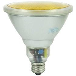 Sunlite 23 Watt Colored PAR38 Reflector, Medium Base, Yellow, SL23PAR38/Y