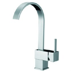 Square Kitchen Faucet, in Polished Chrome