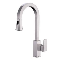 """Pull-Down Kitchen Faucet 19.4"""", in Brushed Nickel"""