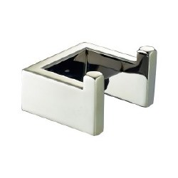 Generic Square Double Robe Hooks in Brushed Nickel