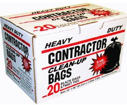 Contractor Trash Bags 42 Gallon 20 Pack