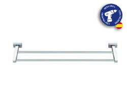 "Baño Diseño Lineas Double Towel Bar 16"" in Chrome"