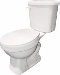 Toilet Kit, Round with Seat, Bolts and Wax Ring, Flush Toilet, White, 3162JB-00