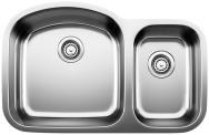 Stellar 1.6 Undermount Bowl Kitchen Sink 31-3/4X20-1/2""