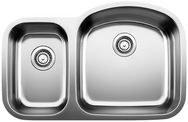 """Stellar 1.6 Bowl Reverse Undermount Kitchen Sink 31-3/4X20-1/2"""""""
