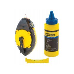 Chalk Line Power Winder Blue with Level