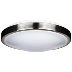 "Ceiling Fixture 12"" with LED Bulb in Brushed Nickel Finish"