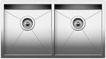 Quatrus R0 Equal Double Bowl Undermount Kitchen Sink 32X18""