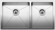 "Quatrus R15 1-3/4 Undermount Double Bowl Kitchen Sink 33X18"""