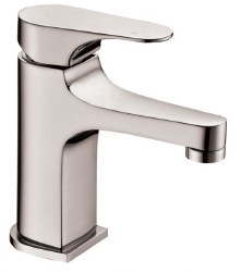 Single-lever Rounded Square Facuet in Brushed Nickel