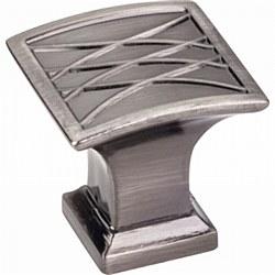 "Jeffrey Alexander Aberdeen Square Cabinet Knob 1-1/4"" in Brushed Black Nickel"