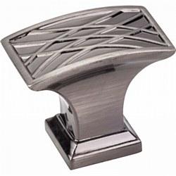 "Jeffrey Alexander Aberdeen Square Cabinet Knob 1-1/2"" in Brushed Black Nickel"