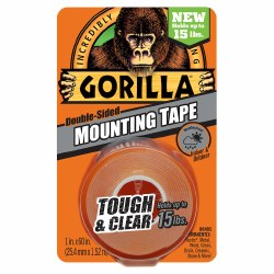 Double Sided Mounting Tape Clear, 1in. x 60in.