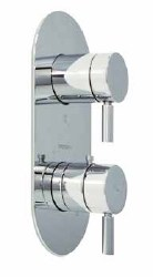 Minima Thermostatic Valve and Trim with built-in diverter in Polished Chrome