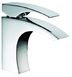Single-lever Modern Square Lavatory Faucet in Chrome