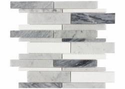 Bianca Linear Mix Mosaic on 12x12 Sheet