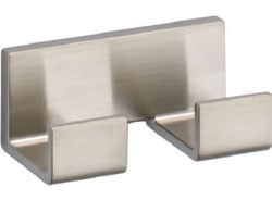 VERO, Double Robe Hook, in Brilliance Stainless