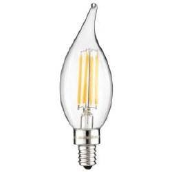 LED Vintage Chandelier 4W Light Bulb Candelabra (E12) Base, Warm White