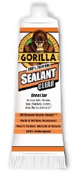 Gorilla Silicone Sealant Clear 2.8oz.