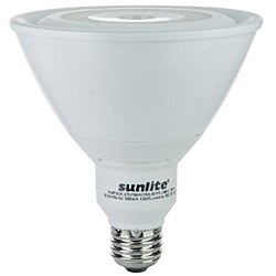 Sunlite PAR38 Reflector, 1200 Lumens, Medium Base, Warm White, PAR38/LED/19W/WL/E/D/FL/30K