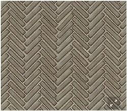 "90 Degree Herringbone Gray Haze Porcelain Mosaic on 11X12.25"" Sheet, DEC90GRH122MO"