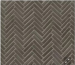 "90 Degree Herringbone Metallic Porcelain Mosaic on 11X12.25"" Sheet, DEC90MET122MO"