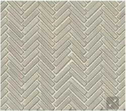 "90 Degree Herringbone Putty Porcelain Mosaic on 11X12.25"" Sheet, DEC90PUT122MO"