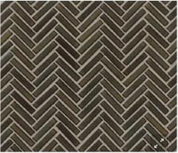 "90 Degree Herringbone Shadow Porcelain Mosaic on 11X12.25"" Sheet, DEC90SHA122MO"