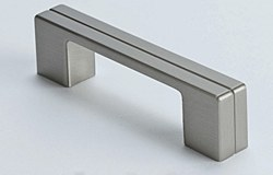 "Cabinet Pull 4.125"" with 3"" C2C in Brushed Nickel, 1 pc."