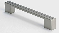 "Cabinet Pull 6.625"" with 6.25"" C2C in Brushed Nickel, 1 pc."