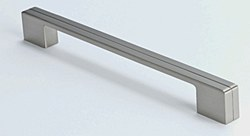 "Cabinet Pull 9.25"" with 8.75"" C2C in Brushed Nickel, 1 pc."