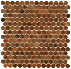 "Perth Penny Rounds, Copper Antique 3/4"", per sheet"