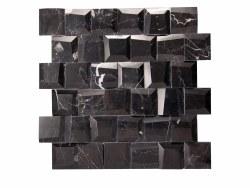 "Adamant Marquina Mosaic on 11.6X11.65"" Sheet"
