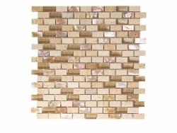Agata Mix Shell Noce Mosaic on 11.3X11.8 Sheet