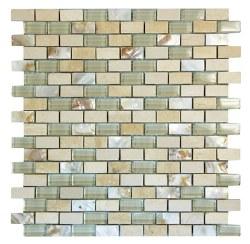Agata Mix Shell Beige Mosaic on 11.3X11.8 Sheet