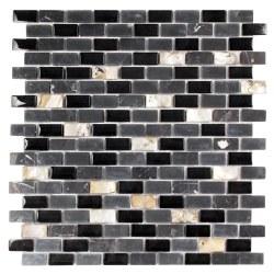 Agata Mix Shell Black Mosaic on 11.3X11.8 Sheet