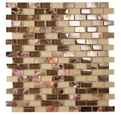 Agata Mix Emperador Mosaic on 11.3X11.8 Sheet