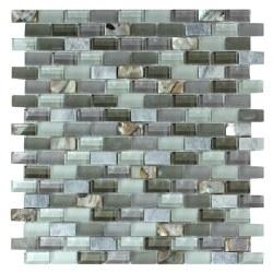 Agata Mix Shell Grey Mosaic on 11.3X11.8 Sheet