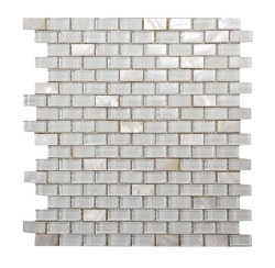 Agata Mix Shell White Mosaic on 11.3X11.8 Sheet