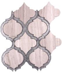 Alice Crystal Grey Mosaic on 9.75X11.75 Sheet