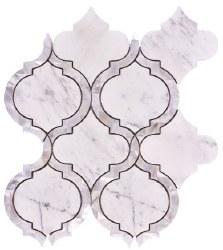 Alice Pearl Carrara Mosaic on 9.75X11.75 Sheet