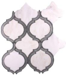 Alice Silver White Mosaic on 9.75X11.75 Sheet
