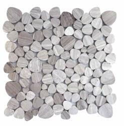"Aphrodite Grey Mosaic on 12X12"" Sheet"