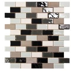Aqua 507 Glass and Stone Mosaic on 12X12 Sheet