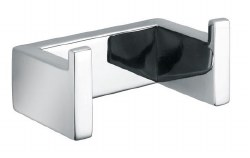Double Robe Hook A34 in Brushed Nickel