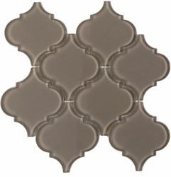 "Arabesque Brown Shining Glass Mosaic on 10X10.5"" Sheet"