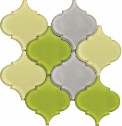 "Arabesque Pebble Mosaic on 11.75X11.75"" Sheet"